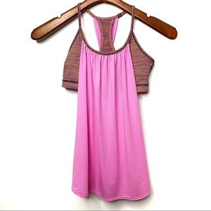 LULULEMON ATHLETICA Pink Tuck Me In Tank Size 4